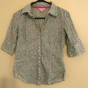 Lilly Pulitzer Buttondown Top, size S